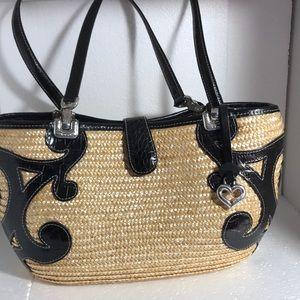 Brighton straw purse